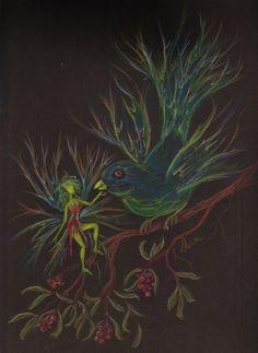 Fairy Finch by DawnFairies on Etsy