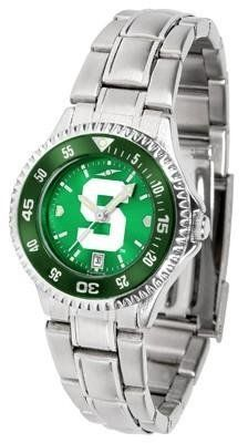 Michigan State Spartans Women's Stainless Steel Dress Watch by SunTime. $88.95. Officially Licensed Michigan State Spartans Women's Stainless Steel Dress Watch. Links Make Watch Adjustable. Stainless Steel. Water Resistan. Women. Michigan State Spartans Women's stainless steel watch. This Spartans dress watch with rotating bezel color-coordinated to compliment your favorite team logo. The Competitor Steel utilizes an attractive stainless steel band. Perfect for any occasion,...