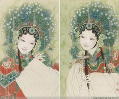 付洛红工笔人物作品欣赏 - wangchangzhengb - wangchangzhengb的博客