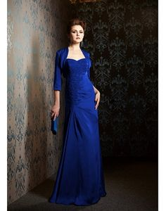 Cheap Brilliant Taffeta Sweetheart Neckline Floor Length Mother of the Bride Dresses With Lace Appliques