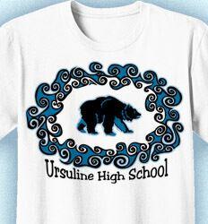School Spirit Shirts: Click 104 Shirt Designs to Boost Spirit - www.izadesign.com for more school spirit t-shirt design ideas