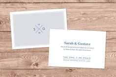 carton d'invitation mariage croisette by Tomoë pour www.rosemood.fr #mariage #wedding #invitation