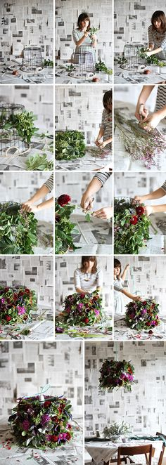 Fresh Flower Pendant Light --Great DIY Ideas on How to Make hanging pendant lights from flowers Diy Flowers, Fresh Flowers, Flower Diy, Flower Lamp, Flower Lights, Flower Crafts, Seasonal Flowers, Fake Flowers, Artificial Flowers