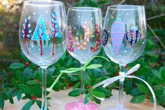 Jingle Bell Rock wine glasses are sure to spread Christmas cheer!