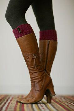 Knitted boot cuffs womens