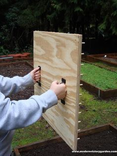 how to make a planting jig - I will make mine 12 inch square for my square foot garden - a couple with different spacing for 16, 9