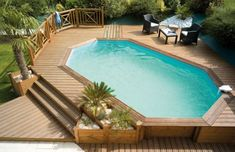Elegant Designs Above Floor Swimming pools Wooden Ideas For Incredible Out of doors Home Terrace Backyard Adorning Type With Lovely Wooden Flooring Ground Decking Swimming Pool Design Choices Above Ground Pool Landscaping, Above Ground Pool Decks, Backyard Pool Landscaping, Small Backyard Pools, Backyard Patio Designs, In Ground Pools, Small Pools, Above Ground Swimming Pools, Swimming Pools Backyard