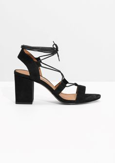 Other Stories image 1 of Lace-Up Sandals in Black
