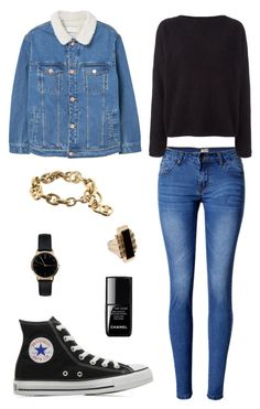 Street style by dalma-m on Polyvore featuring polyvore fashion style Balmain MANGO WithChic Converse Freedom To Exist Michael Kors Lanvin Chanel clothing