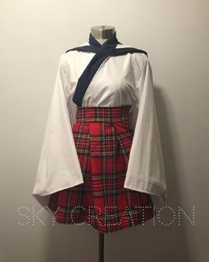 Newly Listed: Sailor X Waloli Limited item skirt made with vintage fabric! . http://etsy.me/2H4ldmr . . . #sailor #sailorfuku #schoolgirl #schooluniform #kawaii #waloli #lolita #cosplay #costume #japan #japanese #sailorcollar #plaid #tartan #vintage #geek #nerd #skycreation #etsy #handmade