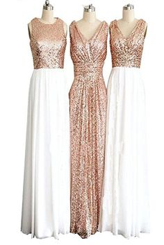 CARADRESS Rose Gold Long Bridesmaid Dresses Sequin Elegan... https://www.amazon.com/dp/B01I6TNXT6/ref=cm_sw_r_pi_dp_CxpGxbH5NN76T