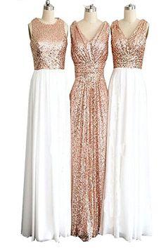 CARADRESS Rose Gold Long Bridesmaid Dresses Sequin Elegan... https://www.amazon.com/dp/B01I6TNXT6/ref=cm_sw_r_pi_dp_CxpGxbH5NN76T
