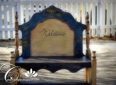 repurposed furniture before and after | Color It Simple: Repurposed Twin Headboard & Footboard Turned ...