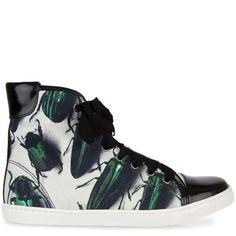 Green beetle Lanvin sneakers