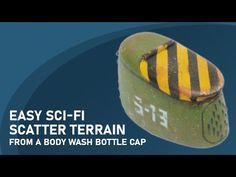 (817) Easy Sci-fi scatter terrain from a body wash bottle cap - YouTube Wargaming Terrain, Body Wash, Sci Fi, Cap, Bottle, Youtube, Baseball Hat, Science Fiction, Shower Gel