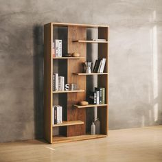 A shelf with a raw design and harmonious design with ultra practical storage space, for a balanced storage space. More basics eco-friendly products on Homely Basics store website. Storage Shelves, Storage Spaces, Shelving, Shelf, Furniture Plans, Home Furniture, Furniture Design, Wooden Shelves, Floating Shelves