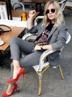 Street Style para working girls #moda #fashion