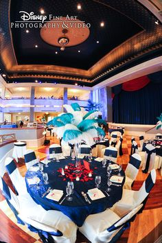 Atlantic Dance Hall - the perfect venue for a roaring (20s) good time! - I love the ostrich plumes!!!  disney wedding