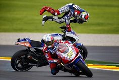 Pretty sure this is the wreck that broke Lorenzo's collarbone.