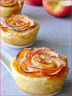 Roses feuilletées aux pommes - Perle en sucre