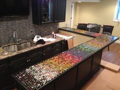custom bottle cap bar top [iMAGE]. sorry for repost! (#QuickCrafter)