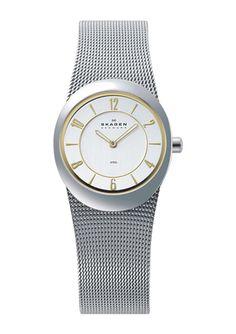 SKAGEN DENMARK Ladies Round Mesh Bracelet Watch Mesh Bracelet, Bracelet Watch, Skagen Watches, Designer Collection, Gold Watch, My Style, Accessories, Denmark, Jewelry Accessories