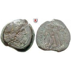 Ägypten, Königreich der Ptolemäer, Ptolemaios VI., Bronze 176-170, ss: Ptolemaios VI. 180-145 v.Chr. Bronze 176-170 Alexandria. Kopf… #coins