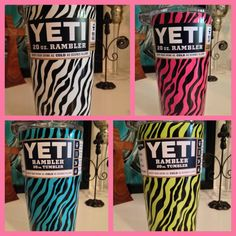 Hydro dipped zebra pattern available in multiple colors