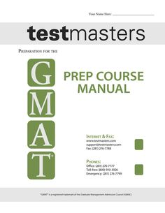 Testmasters GMAT Course Manual
