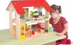 A complete quality wooden dolls house