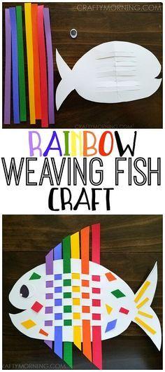 Weaving Rainbow Fish (Kids Craft: