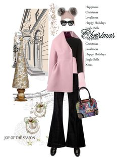 """Christmas shopping"" by frenchfriesblackmg ❤ liked on Polyvore featuring Delpozo, McQ by Alexander McQueen, Marni, Eugenia Kim, Le Specs and Dekorasyon"