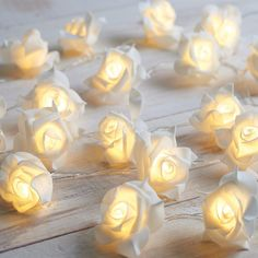 Battery Powered Rose String Lights (6.80 AUD) ❤ liked on Polyvore featuring home, lighting, battery powered lamps, battery operated fairy lights, battery lights, rose fairy lights and battery operated string of lights