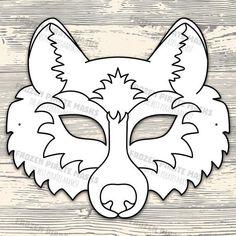 Animal Mask Templates, Printable Animal Masks, Owl Printable, Forest Animals, Woodland Animals, Wolf Maske, Vanellope Y Ralph, Animal Masks For Kids, Bunny And Bear