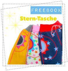 Viele einfache Schnittmuster lassen sich mit den Stern-Taschen wunderbar und ganz easy aufwerten. Dass Freebook Stern-Taschen gibt es ab sofort für euch!