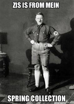Hitler in shorts lol Hitler Jokes, Dankest Memes, Funny Memes, Funny Stuff, Memes Historia, Funny Cute, Hilarious, People, Frases