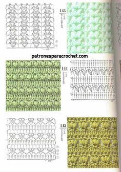from Crochet Design 200 Crochet Squares, Crochet Motif, Easy Crochet, Knit Crochet, Crochet Stitches Patterns, Crochet Designs, Stitch Patterns, Patron Crochet, Crochet Placemats