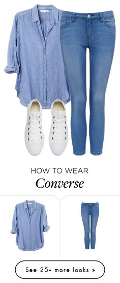 """Untitled #6393"" by hannahmcpherson12 on Polyvore featuring Forever New and Converse"