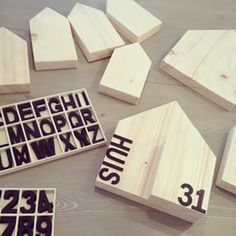 Huisjes Diy Projects To Try, Wood Projects, Wood Crafts, Diy And Crafts, Mdf Letters, Diy Presents, Diy Ribbon, Diy Interior, Wood Toys