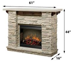 Excellent Screen gas Fireplace Mantels Tips Dimplex Featherston Electric Fireplace Stone Fireplace Mantel, Farmhouse Fireplace, Fireplace Surrounds, Fireplace Design, Fireplace Ideas, Cottage Fireplace, Fireplace Console, Fireplace Makeovers, Fireplace Kitchen