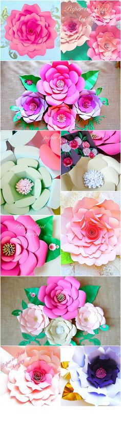 Want to make these beautiful paper flowers for your wedding, baby shower…