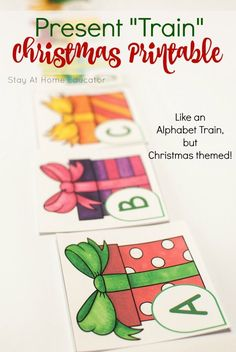 Add some letter fun to your Christmas preschool lesson plans! This alphabet game has so any fun ways to play and so many preschool learning activities, too! Use it to teach letter identification, name spelling, decoding, cvc words and so much more! Writing Activities For Preschoolers, Preschool Christmas Activities, Preschool Writing, Preschool Lesson Plans, Preschool Learning Activities, Alphabet Activities, Preschool Alphabet, Preschool Centers, Spelling Activities
