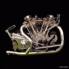 NO 5: VINTAGE 1938 CROCKER MOTORCYCLE ENGINE by Gordon Calder, via Flickr