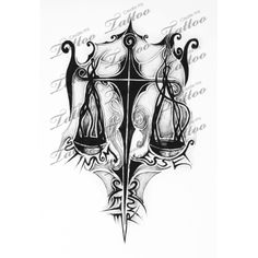 Marketplace Tattoo balance scale #1162 | CreateMyTattoo.com