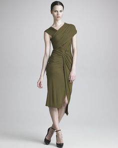 Like This I Do!! Draped Jersey Dress by Donna Karan at Neiman Marcus.