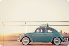 this Robin's egg blue VW bug makes me smile