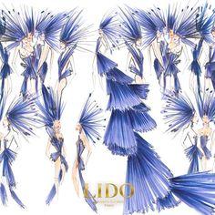 Maquette costumes #R27  #nouveauspectacle #costumes #Lido #LidoParis #Cabaret