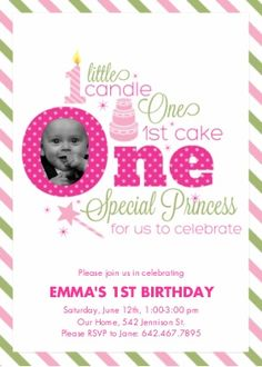 Princess 1st Birthday Invitation