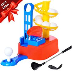 Exercise N Play Golf Toys Set, Kids Outdoor Toys, Kids Golf Clubs, Golf Ball Game, Early Educ. - Activities for kids Kids Golf Set, Golf Games For Kids, Kids Golf Clubs, Outdoor Toys For Kids, Outdoor Activities For Kids, Diy For Kids, Gifts For Kids, Golf Sets, Golf Party Decorations