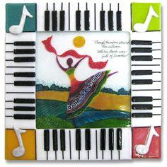 Music Dance - Glass art by Anne Nye